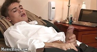 Obedient boy takes older shaft and a thick load