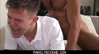 Step-dad Punish Fucks Twink Stepson