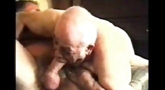 Mature gay older men and daddies playing.