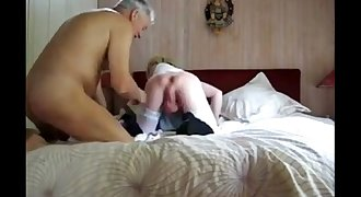old man sucks big balled  youthful crossdresser
