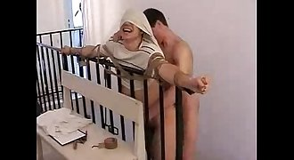 porn - BoysVictims - On the ladder - bareback - forced, suck, fuck, facial