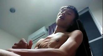Asian twink cumshot